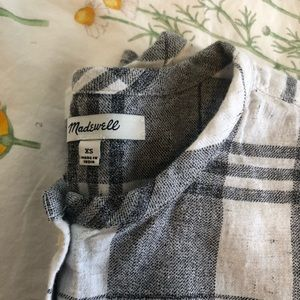 Madewell Collarless Button Down